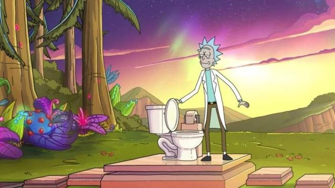 Rick discovers someone has used his toilet