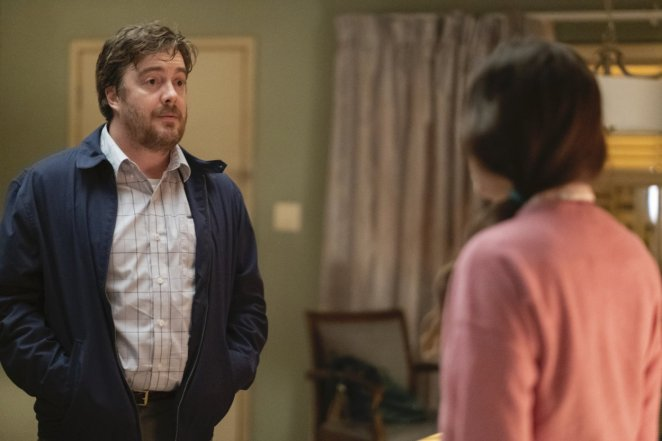 George confronts Adrienne in the room