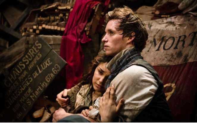 Marius holds a dying Eponine