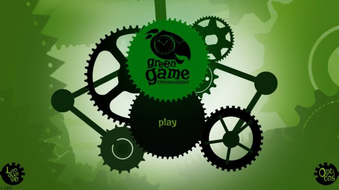 The Green Game title screen
