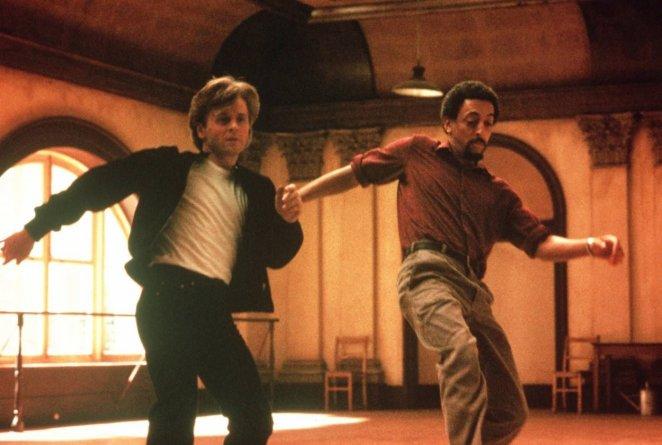 Baryshikov and Hines, dancing