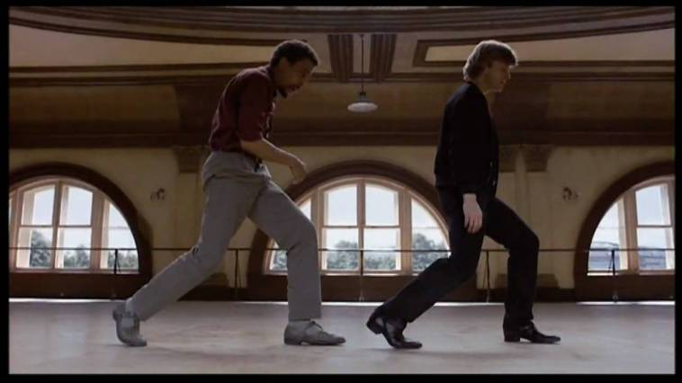 Hines and Baryshnikov, in a dance studio