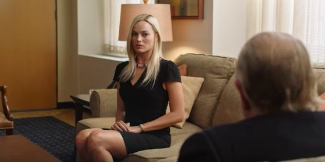 Kayla Pospisil sits on a couch nervously with Roger Ailes
