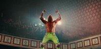 Randy the Ram poses defiantly on the top turnbuckle