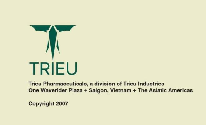 The Trieu Industries logo looks like an elephant head