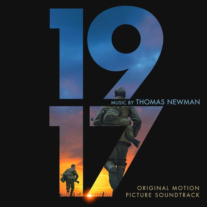 The cover to the 1917 soundtrack features the number with soldiers partly seen inside of them