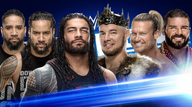 The Usos and Roman Reigns vs. King Corbin, Robert Roode and Dolph Ziggler