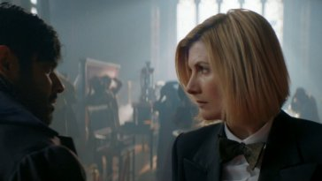 "The Master (Sacha Dhawan) and the Doctor (Jodie Whittaker) face off in Doctor Who's ""Spyfall Part 2"""