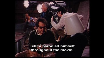 Fellini parodied himself