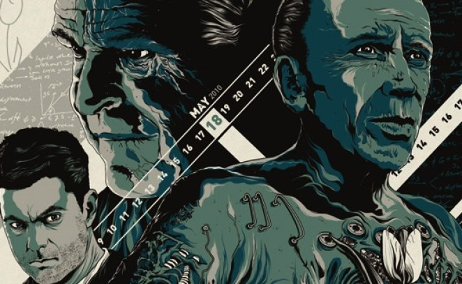 Animated picture of Peter (Joshua Jackson), Walter (John Noble) and Alistair (Peter Weller) facing in different directions.