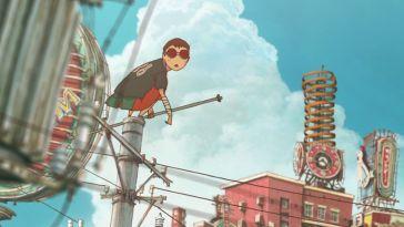 The teenage thug Black in Tekkonkinkreet perches on a rooftop