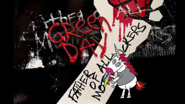 Cover artwork from new Green Day album Father of All...a fist and a unicorn