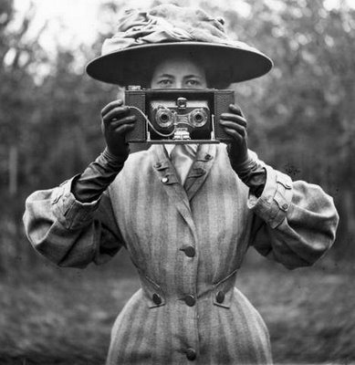 vintage lady photographer