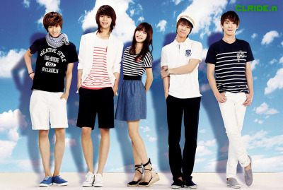 withSHINee's Taemin, Minho, Jonghyun & Key forCLRIDE.n