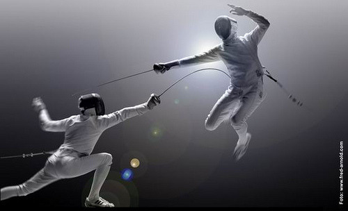 the art of fencing.