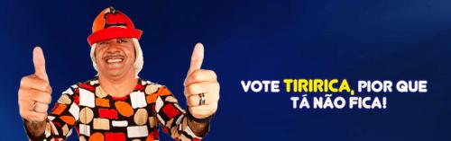 Vote Tiririca! Pior que tá não fica! (via Tiririca 2222)