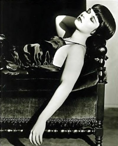 Mary Louise Brooks (November 14, 1906 – August 8, 1985), generally known by her stage name Louise Brooks, was an American dancer, model, showgirl and silent film actress, noted for popularizing the bobbed haircut. Brooks is best known for her three feature roles including two G. W. Pabst films: in Pandora's Box (1929), Diary of a Lost Girl (1929), and Prix de Beauté (Miss Europe) (1930). She starred in 17 silent films and, late in life, authored a memoir, Lulu in Hollywood.