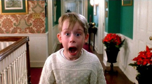 The kid from Home Alone (Macualay Culkin) screaming