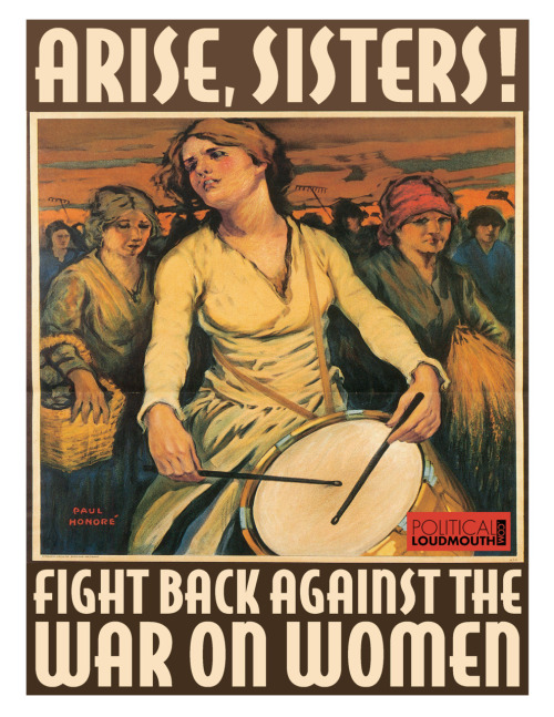 arise women, fight against the GOP war on women poster