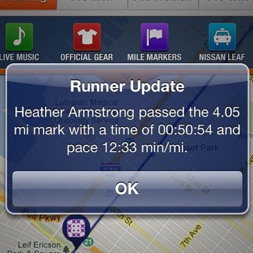 4 miles in!