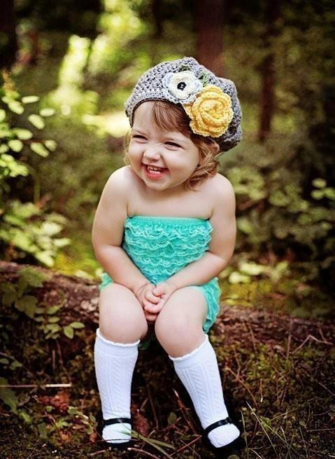 fotografía niña riéndose