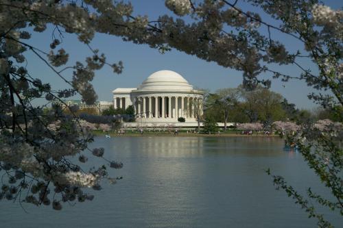 Feliz cumpleaños 269o a Thomas Jefferson!  Jefferson sigue siendo una figura esencial en la consideración y estudio de las épocas de la Revolución Americana, la república temprana, y la expansión nacional.  ¿Qué mejor manera de aprender más acerca de uno de nuestros Padres Fundadores, que visitar el Monumento a Jefferson en Washington, DC (foto arriba). Foto: Servicio de Parques Nacionales