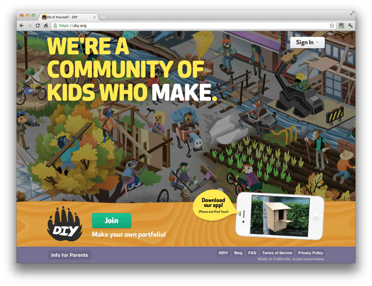 For all of you with little makers and builders, check out DIYby one of the CP editors. DIY allows kids to collect all the things they create — including their treehouses and forts — as they grow up!
