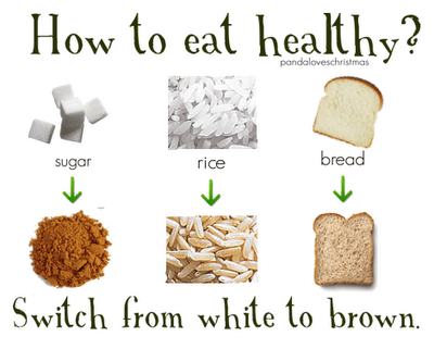 brown bread instead of white