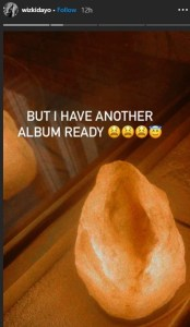 Wizkid Reveals He Has Another Album Ready.