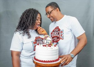 Veteran Actor Tony Umez Celebrates 21st Wedding Anniversary With Beautiful Wife.