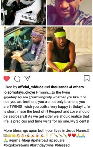 """""""Whether You Like It Or Not You Are Brother"""" Lola Omotayo Slams P'Square."""