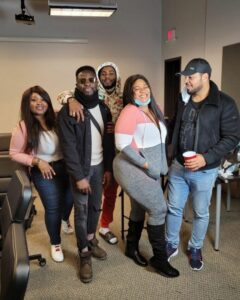 """""""He is a whole mood"""" – Actress Nkechi Blessing gushes over Ramsey Nouah on movie set in America"""