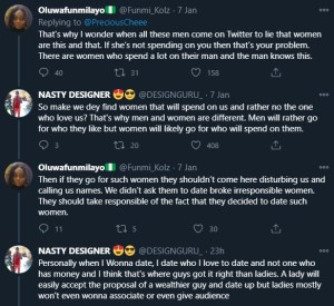 Women actually spend more than men in relationships – Lady says