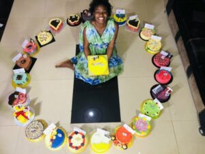 Lady receives 25 cakes in celebration of her 25th birthday