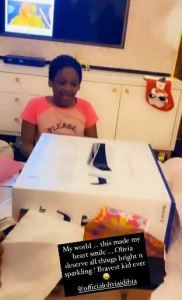 Singer, 2Face Idibia and wife gift their daughter, Olivia a PS5 for her 7th birthday