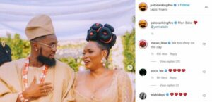 """This is what actually happened in Abule"""" – Nigerians reacts to Patoranking and Yemi Alade wedding themed photo"""