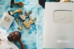 Roberto becomes the 1st artist to receive YouTube creators award from Zambia