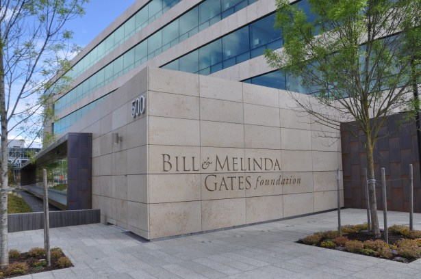 Photo of the Gates Foundation exterior. Courtesy of Tom Paulson/Humanosphere.