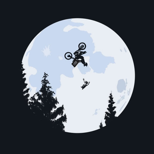 "Tee of the Day, Too: ""Extreme Terrestrial"" by La Tortuga. Incidentally, a Freestyle Motocross-themed remake of E.T. is long overdue. (Only five days left to purchase!) [theawesomer.]"