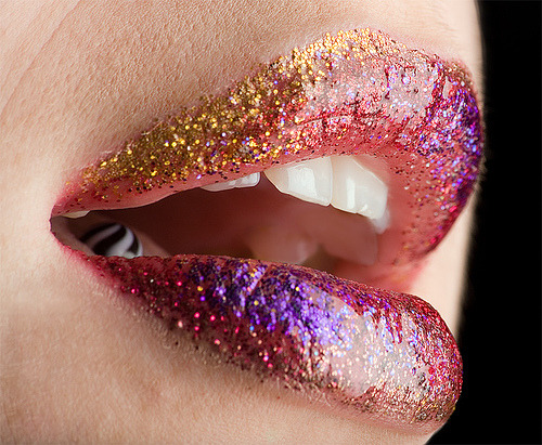 Rainbow Sparkle Lips (by jędrek)