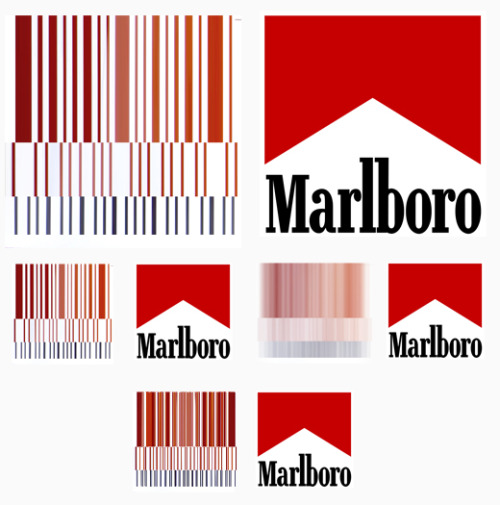 marlboro logo compared to barcode