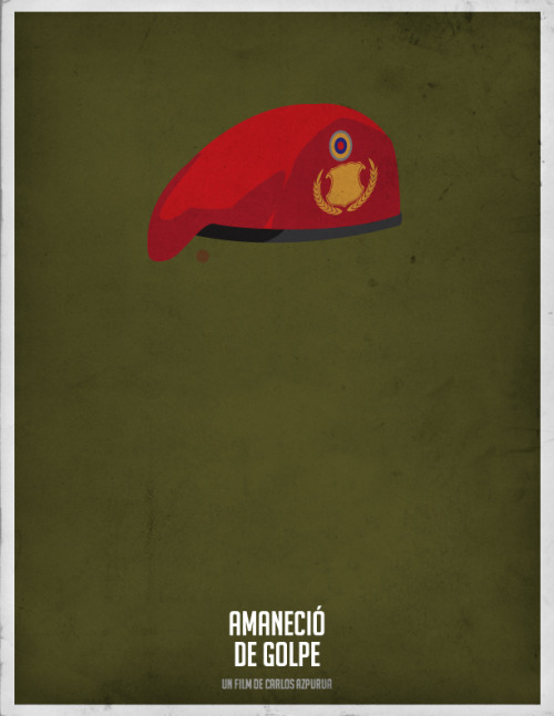 Amaneció de golpe - Minimal Movie Poster #cinevenezolano