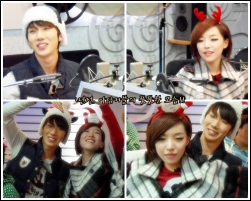 110105 Kwon & Ga-in on ShimShimTaPa just a photo to bring back memories that shimshimtapa posted (: it's actually from december 2009