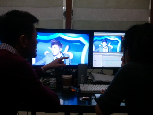 110108 JYP's Twitter  Editing Woo Young's performance in Dream High 3rd episode. Good job brother!