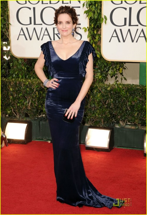 Tina Fey's dress is so fetch. I want to be her when I grow up (no seriously comedy writer is a career I'd love)