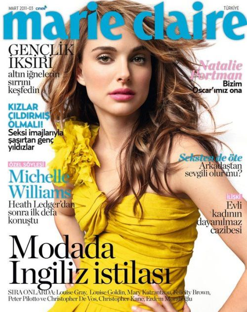 Natalie Portman en la portada de Marie Claire