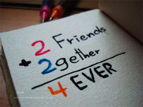 Quando 2 pessoas realmente valorizam a amizade não há ninguém que possa drestui-la. De grandes amizades nascem grandes amores.  Pensamentos Altos