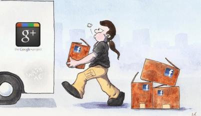 Curiosa historieta sobre Google+ y Facebook. La encontramos en G+. No tenía fuente. Si conocen el sitio, agradeceríamos que lo comenten :)