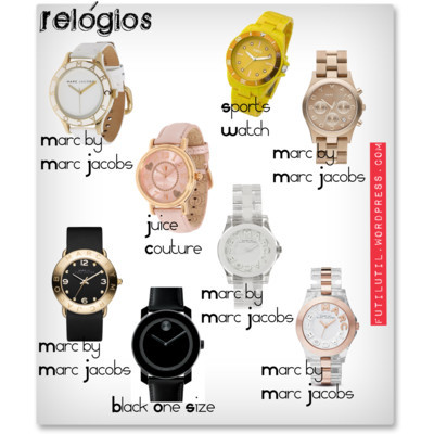 relógios by blogfutilutil featuring stainless steel watchesMovado unisex watch$350 - nordstrom.comMarc by Marc Jacobs chronograph watch$250 - nordstrom.comMarc by Marc Jacobs stainless steel watch$200 - couture.zappos.comMarc by Marc Jacobs logo watch$200 - bloomingdales.comJuicy couture jewelry$195 - couture.zappos.comMarc by Marc Jacobs clear crystal jewelry$175 - net-a-porter.comMarc by Marc Jacobs logo watch$150 - nordstrom.comOasis chunky watch£20 - oasis-stores.com