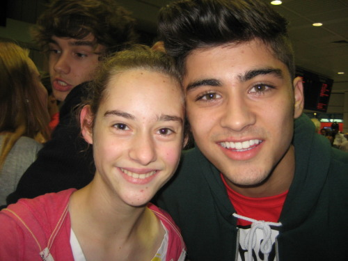 ME AND ZAYN. (HE WAS SO BEAUTIFUL IN PERSON AND SMELLED AMAZING)